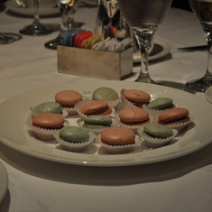 Macaroons in main dining room on Royal Princess