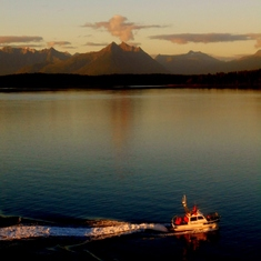 Twilight time at glacier bay
