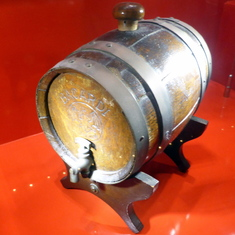Barrel of Rum on Display