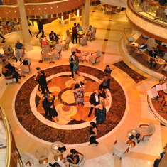 Dancing in the atrium on Royal Princess