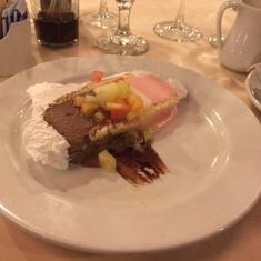 Baked Alaska in Main Dining Room