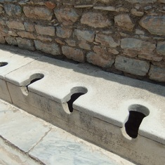 Kusadasi (Ephesus), Turkey - Yes, these are the toilets.
