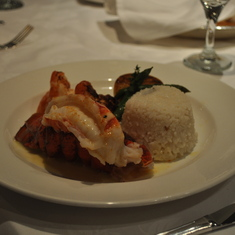 Lobster in main dining room on Royal Princess
