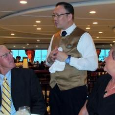 Lyndon was a TERRIFIC waiter!