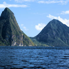 Castries, St. Lucia - Piton Mts. St. Lucia