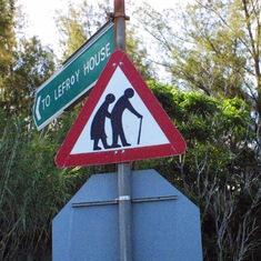 King's Wharf, Bermuda - Bermuda - Senior Citizen Warning Sign