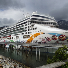 The Pearl docked in Juneau.