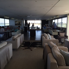 Lounging area on the Zambezi Queen