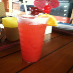 An umbrella drink at Tandoor, Carnival Splendor