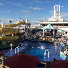 Water fun aboard the GEM