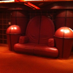 Comfy chairs in the lounge, Carnival Splendor