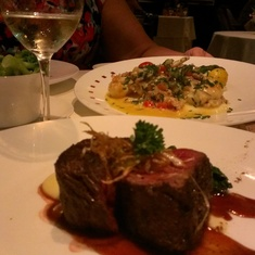 Venison and lobster at Murano aboard Celebrity Silhouette