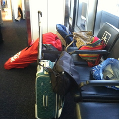 It takes a lot of luggage to get two adults and a toddler on a cruise ...