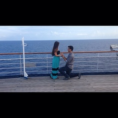He purposed on the top deck!