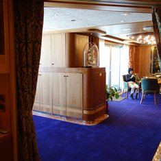 View from Entrance of Bedroom towards Dining Room in Pinnacle Suite, 7001