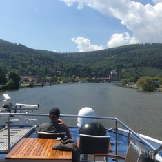 Passau, Germany - Sailing past castles