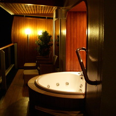 Whirl Pool Hot Tub on Penthouse Suite Balcony, Westerdam