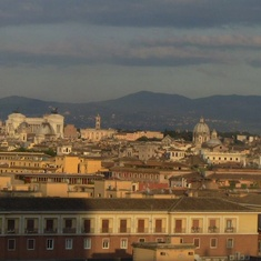 Civitavecchia (Rome), Italy - View of Rome from Museum sun going down.