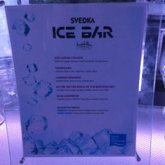 Menu at Ice Bar