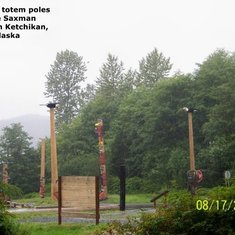Totem Poles at the Saxman Village in Ketchikan