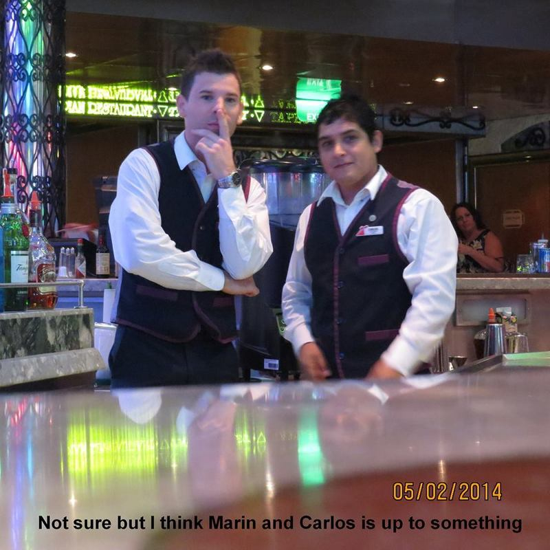 Our favorite bartendars on the Liberty, Marin & Carlos