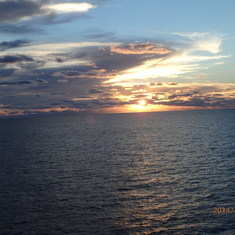 Sunset in the Gulf of Mexico