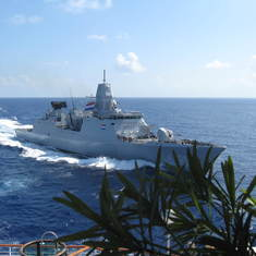 Our Dutch warship escort for four days, Somalia coast --Kenya to Oman