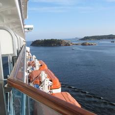 Leaving Kristinasand, Norway on Royal Princess