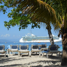 Private beach in Labadee for Royal Caribbean.   Heavenly