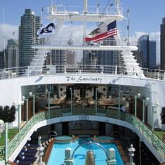 San Diego, California - On board Sapphire Princess