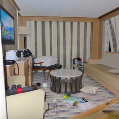 Our stateroom (340) after collision with ship