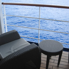 Our balcony--Seven Seas Mariner