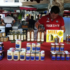 Toulon, France - Honey at the market in Aix