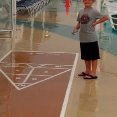 My son loves Shuffleboard