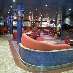 one of the entertainment areas