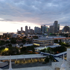Miami from the Lido deck.