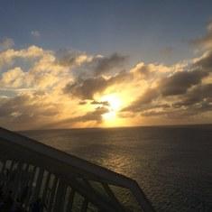 Sunset on the Caribbean