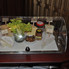 Cheese tray in Crown Grill on Royal Princess