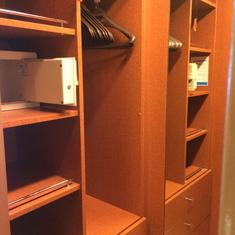 Closet in a suite