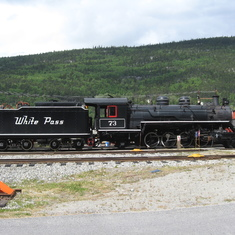 Historical locomotive (and tender) at Skagway.