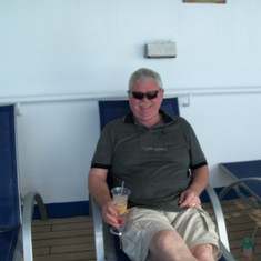 Relaxing on deck