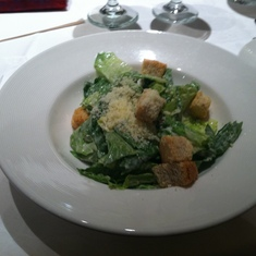 Caesar salad in the main dining room on Royal Princess