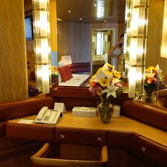 Dressing Area in Bedroom of Pinnacle Suite, Cabin 7001