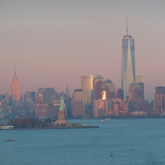 Sunset reflecting off Manhattan