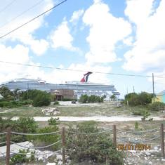 Grand Turk Island - The Carnival Liberty docked in Grand Turk