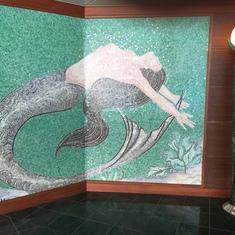 love mermaid  tile wall