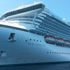 Ruby Princess anchored off Grand Cayman