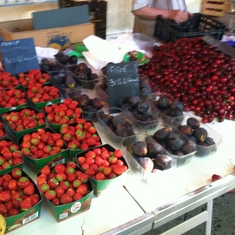 Toulon, France - Berries at the market in Aix