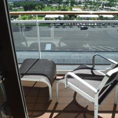 balcony overlooking Port of Miami
