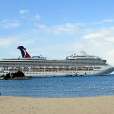 Ship from the beach at Ocho Rios
